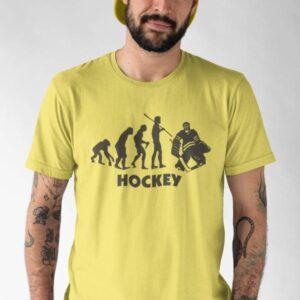 Hokej evolucija vratar, majica