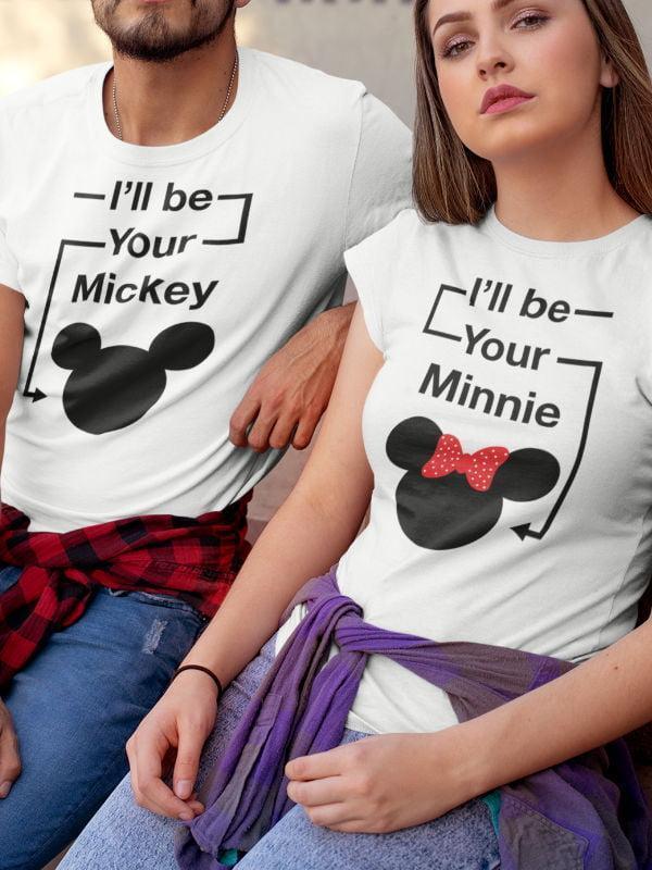 Majice Komplet za pare: Mickey & Minnie