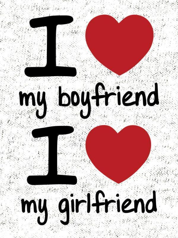 Komplet za pare: Love my boyfriend & Love my girlfriend