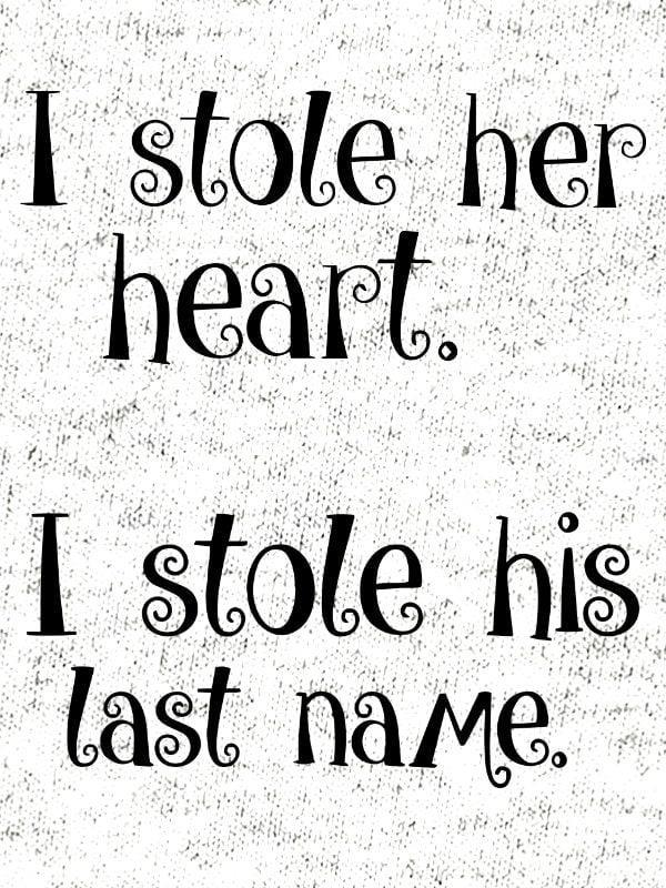 Komplet za pare: I stole her heart & I stole his last name