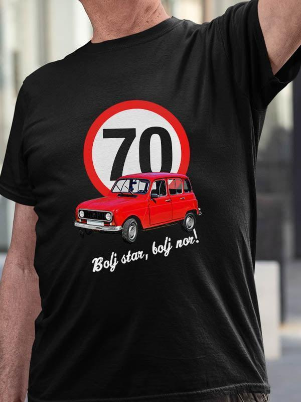 Majica Bolj star, bolj nor! 70 - katrca
