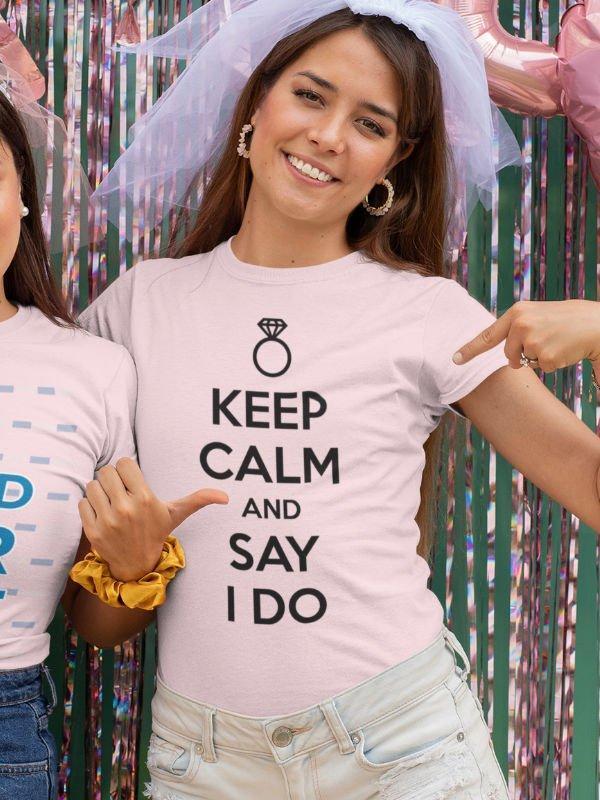 Majica Keep calm and say I do