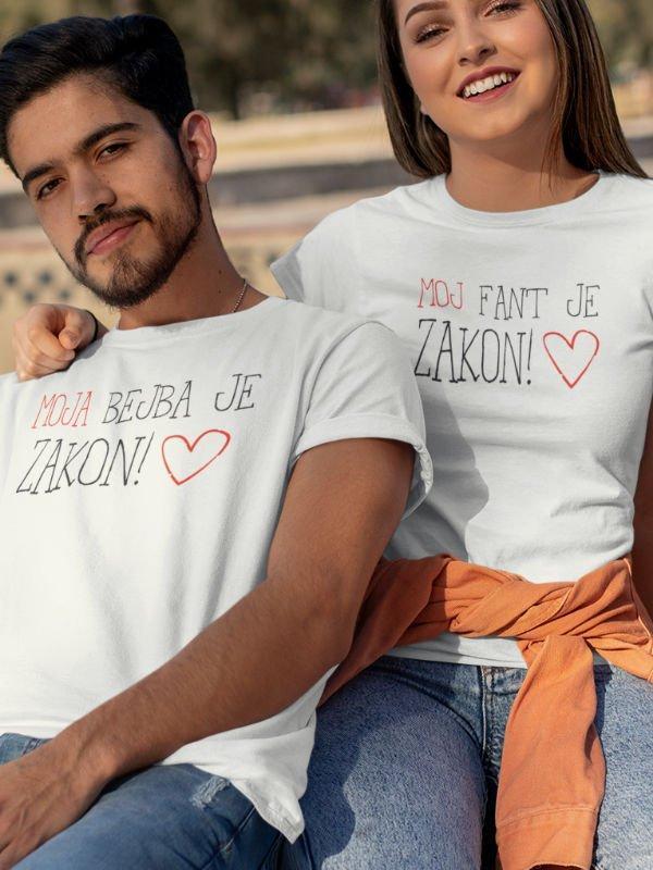 Komplet majic Komplet za pare: Moja bejba je zakon & Moj fant je zakon