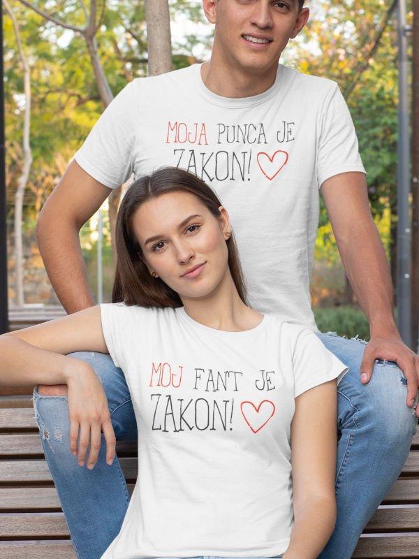 Majice Komplet za pare: Moja punca je zakon & Moj fant je zakon