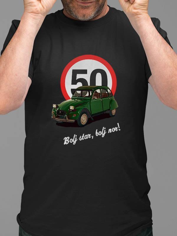 Majica Bolj star, bolj nor! 50 - spaček