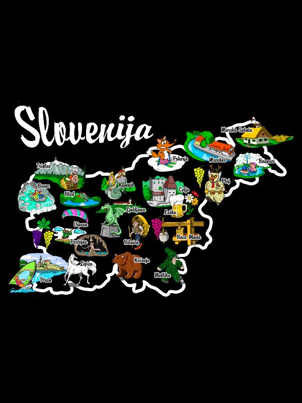 Zemljevid Slovenije Majica