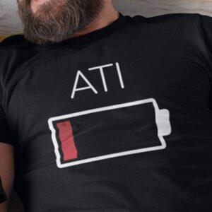Baterija ati, majica za atije
