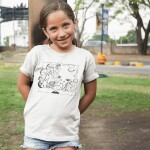 Beautiful-girl-wearing-a-t-shirt-mockup-while-posing-in-a-park-a16155