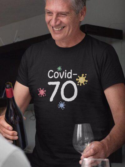 Covid 70 mockup črna 19 let praznujem skupaj s corono 2