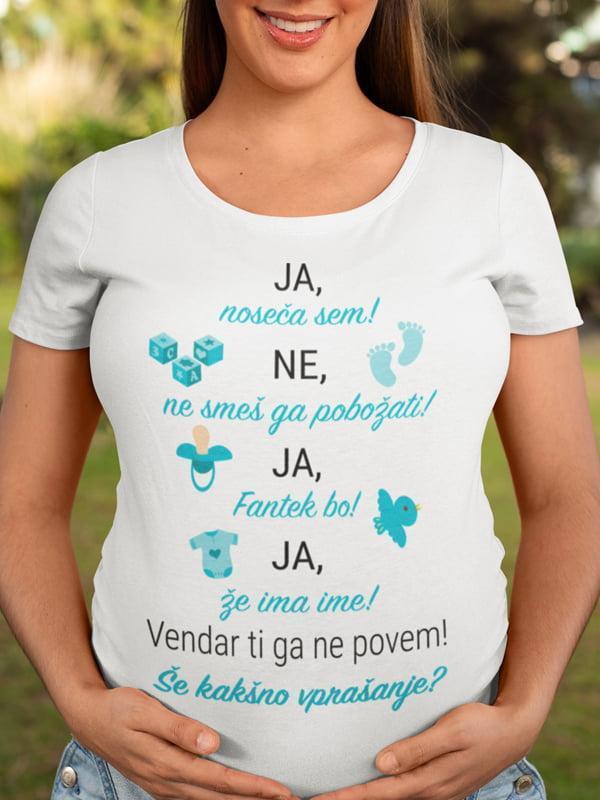 Majica Ja, noseča sem! (fantek bo!)