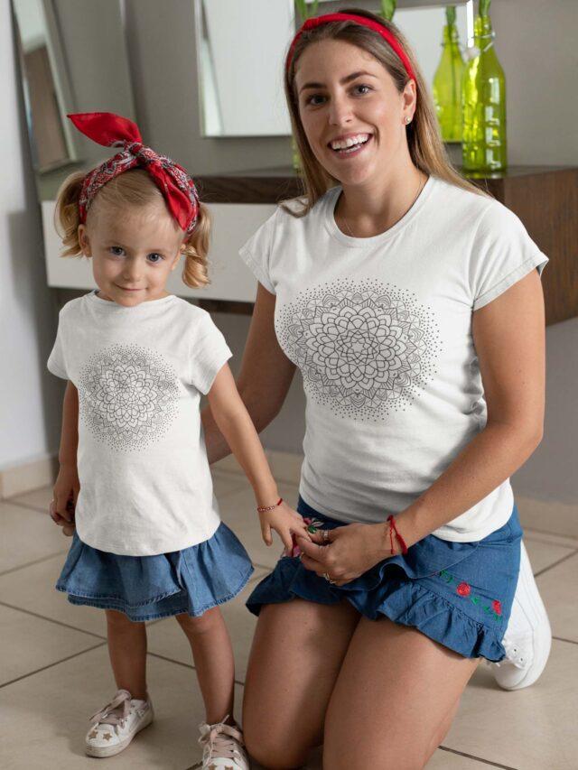 Mandala zlata svetloba pobarvanka na majici, majica