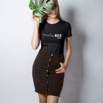 Mockup-of-a-fashionable-girl-wearing-a-t-shirt-holding-a-leaf-against-her-face-18363