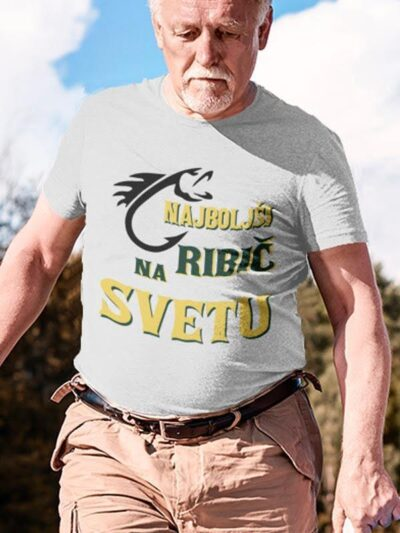 Najboljši ribič na svetu barvni, majica