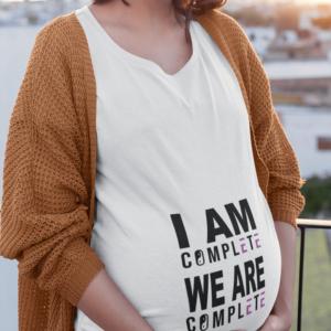 Nosecniska majica we are complete za nosečnice za nosečnice 7