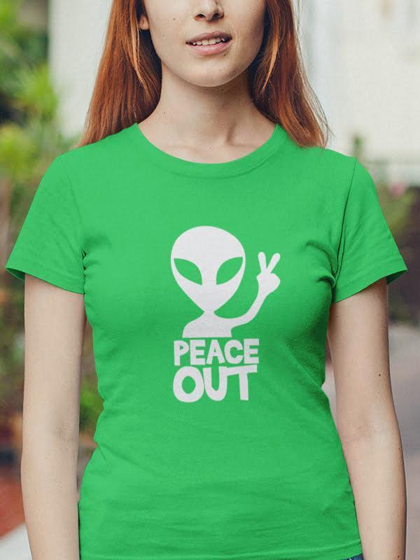 Peace out alien, tshirt