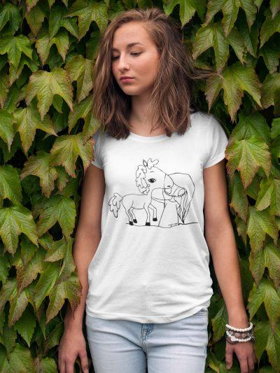 Za vso družino - Pobarvanka na majicah Zmaj MOJA MOJA