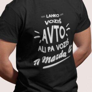 Potiskana majica avto mazda zabavna avtomobilizem duhovito tisk na majice garderoba tiskarna trgovina kolosej prodaja btc ljubljana 7