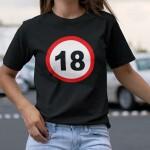 Prometni znak 18 crna 2