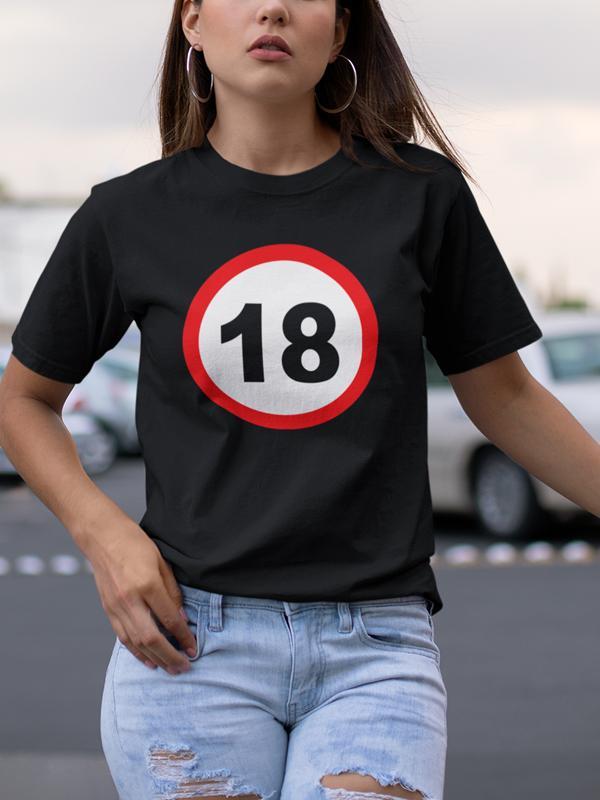 Prometni znak 18 let, majica