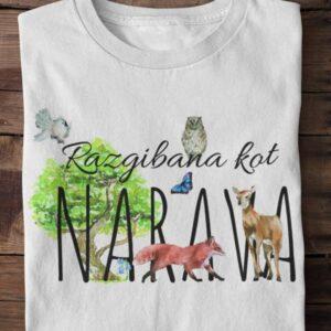Razgibana kot narava, majica