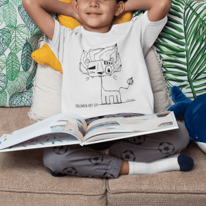 T shirt mockup of a boy relaxing reading a book 32163 14