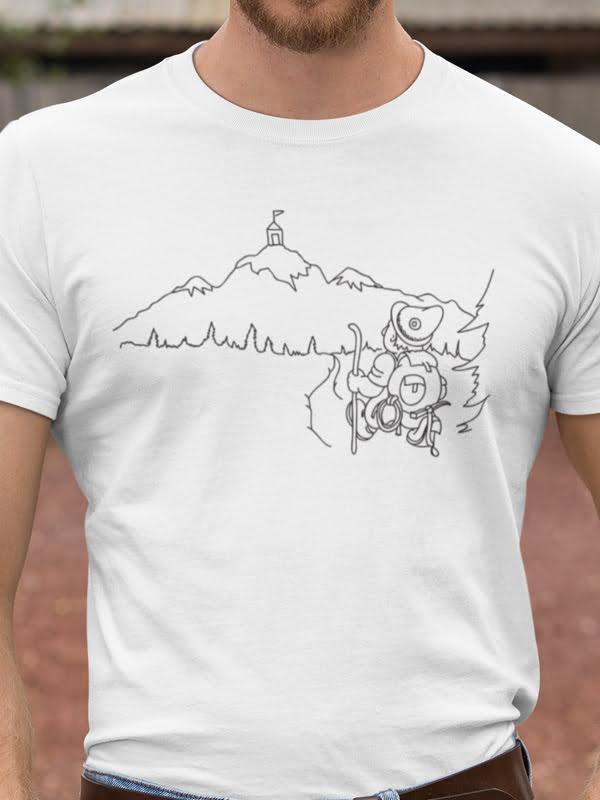 Triglav pobarvanka na majici Slovenija