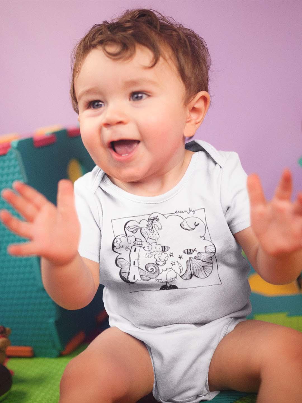 Za vso družino Pobarvanka na majicah Dream big MOJA MOJA, majica