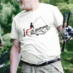 Potiskana majica i love fishing prosti čas ribič ribolov ribe morje reke dopust  jezero narava voda smešno tiskarna garderoba ljubljana spletno nakupovanje dostava prevzem tisk po želji unikati dtg print kvalitetno obstojno trgovina