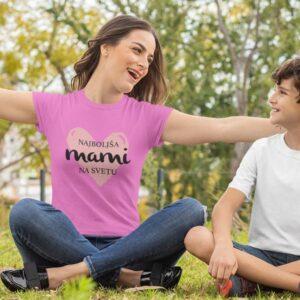 Najboljša mami na svetu v srčku, majica