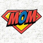 Printed t-shirt mom superman gift for mom mother's day funny super heroes superman mommy family printing wardrobe shop ljubljana print on t-shirts unique online shopping delivery quality durable