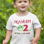 Potiskana majica 2 leti praznujem skupaj s korono za otroke rojstni dan corona za najmlajše darilo tiskarna garderoba ljubljana dtg tisk na majice udobno obstojno unikati tisk po želji dostava