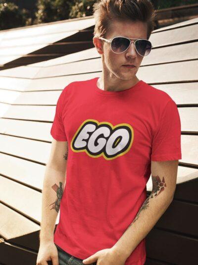 Potiskana majica ego lego zabavno smešno parodija majica za darilo dtg tisk na majice tiskarna garderoba ljubljana spletno nakupovanje osebni prevzem dostava po pošti obstojen tisk udobno za nosit