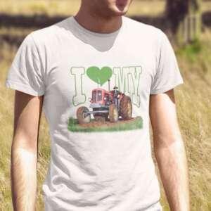 potiskana majica i love my tractor zabavna majica traktor kmet i love dtg tisk tiskarna garderoba ljubljana spletno nakupovanje osebni prevzem tisk po vaši želji kvalitetno udobno obstojno