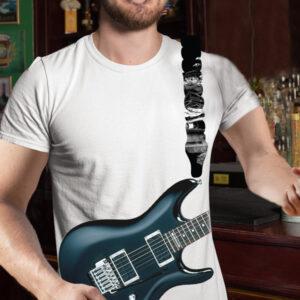 Moška majica air črna kitara