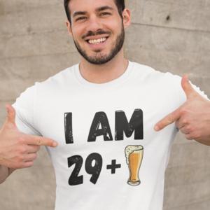 rojstnodnevna majica leto plus pivo bela